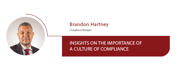 Insights on the impotance of a culture of compliance